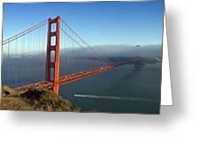 Golden Gate Bridge Greeting Card by Melanie Viola