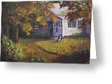Grandma's House Greeting Card by Bev Finger