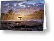Halo On The American River Greeting Card by Lee Harland