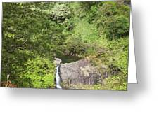 Hana Waterfall Greeting Card by Jenna Szerlag