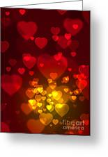 Hearts Background Greeting Card by Carlos Caetano