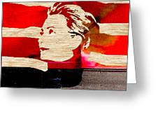 Hillary Clinton Greeting Card by Marvin Blaine