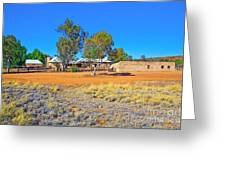 Historical Telegraph Station Alice Springs  Greeting Card by Bill  Robinson