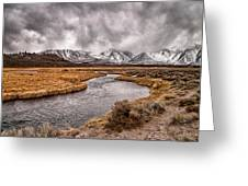 Hot Creek Greeting Card by Cat Connor