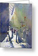 I Saw The Light At 44th And Broadway Greeting Card by Kris Parins