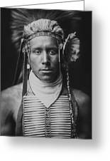 Indian Of North America Circa 1905 Greeting Card by Aged Pixel