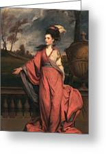 Jane Fleming, Later Countess Greeting Card by Sir Joshua Reynolds