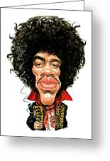 Jimi Hendrix Greeting Card by Art