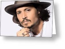 Johnny Depp Greeting Card by Karon Melillo DeVega