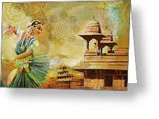 Kathak Dancer Greeting Card by Catf
