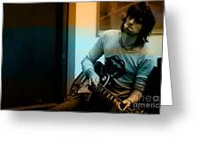 Keith Richards Greeting Card by Marvin Blaine