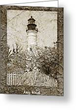 Key West Lighthouse Greeting Card by John Stephens