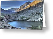 Kit Carson Peak and Willow Lake Greeting Card by Aaron Spong
