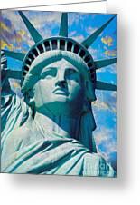 Lady Liberty Greeting Card by Jon Neidert