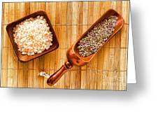 Lavender Seeds And Bath Salts Greeting Card by Olivier Le Queinec
