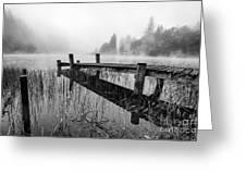 Loch Ard Early Mist Greeting Card by John Farnan