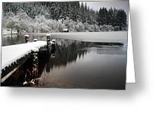 Loch Ard Winter Scene Greeting Card by Grant Glendinning