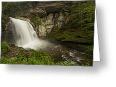 Looking Glass Falls Greeting Card by Doug McPherson