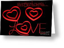 Love Greeting Card by Darren Fisher