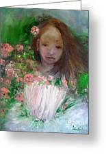 Mary Rosa Greeting Card by Laurie D Lundquist