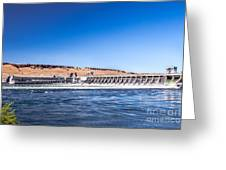 Mcnary Dam Greeting Card by Robert Bales