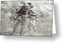 Medieval Battle Greeting Card by Jaroslaw Grudzinski