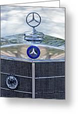 Mercedes-benz Hood Ornament Greeting Card by Jill Reger