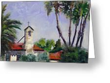 Mission San Juan Capistrano Greeting Card by Luz Perez