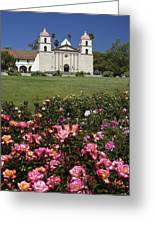 Mission Santa Barbara Greeting Card by Michele Burgess
