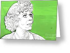 Momma On Green Greeting Card by Jason Tricktop Matthews