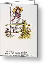 Mother Goose: Bo-peep Greeting Card by Granger