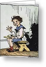 Mother Goose: Jack Horner Greeting Card by Granger