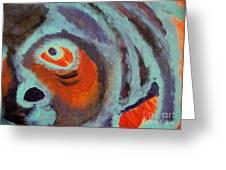Mr Pugglesworth Aint Happy Greeting Card by Laurette Escobar