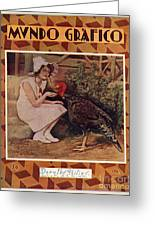 Mundo Grafico 1928 1920s Spain Cc Greeting Card by The Advertising Archives