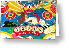 Native Pinball Greeting Card by Beth Saffer