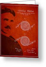 Nikola Tesla Patent From 1886 Greeting Card by Aged Pixel