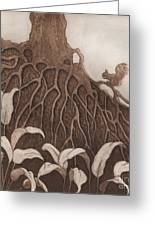 Nut Maze Greeting Card by Suzette Broad