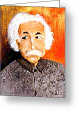 Old Einstein Greeting Card by Olga R