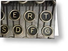 Old typewrater Greeting Card by BERNARD JAUBERT