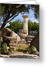 Olympia Ruins Greeting Card by Brian Jannsen