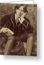 Oscar Wilde 1882 Greeting Card by Napoleon Sarony
