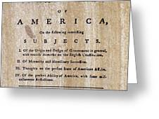 PAINE: COMMON SENSE, 1776 Greeting Card by Granger