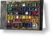 Paint Box Greeting Card by Bernard Jaubert