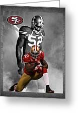 Patrick Willis 49ers Greeting Card by Joe Hamilton
