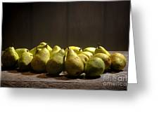 Pears Greeting Card by Olivier Le Queinec