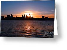 Philadelphia Sunset Greeting Card by Olivier Le Queinec