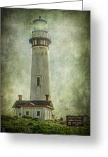 Pigeon Point Light Station Greeting Card by Erik Brede