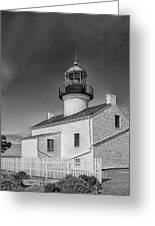 Point Loma Lighthouse Greeting Card by Hugh Smith