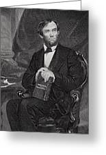 Portrait Of Abraham Lincoln Greeting Card by Alonzo Chappel