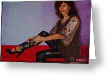 Portrait Of Maria Greeting Card by Dagmar Helbig